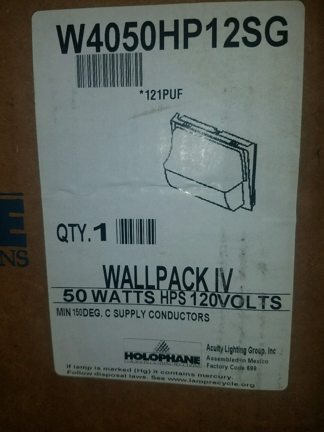 Holophane outdoor wallpack iv w4050hp12sg 150w metal halide light holophane outdoor wallpack iv w4050hp12sg 150w metal halide light fixture 120v arubaitofo Choice Image
