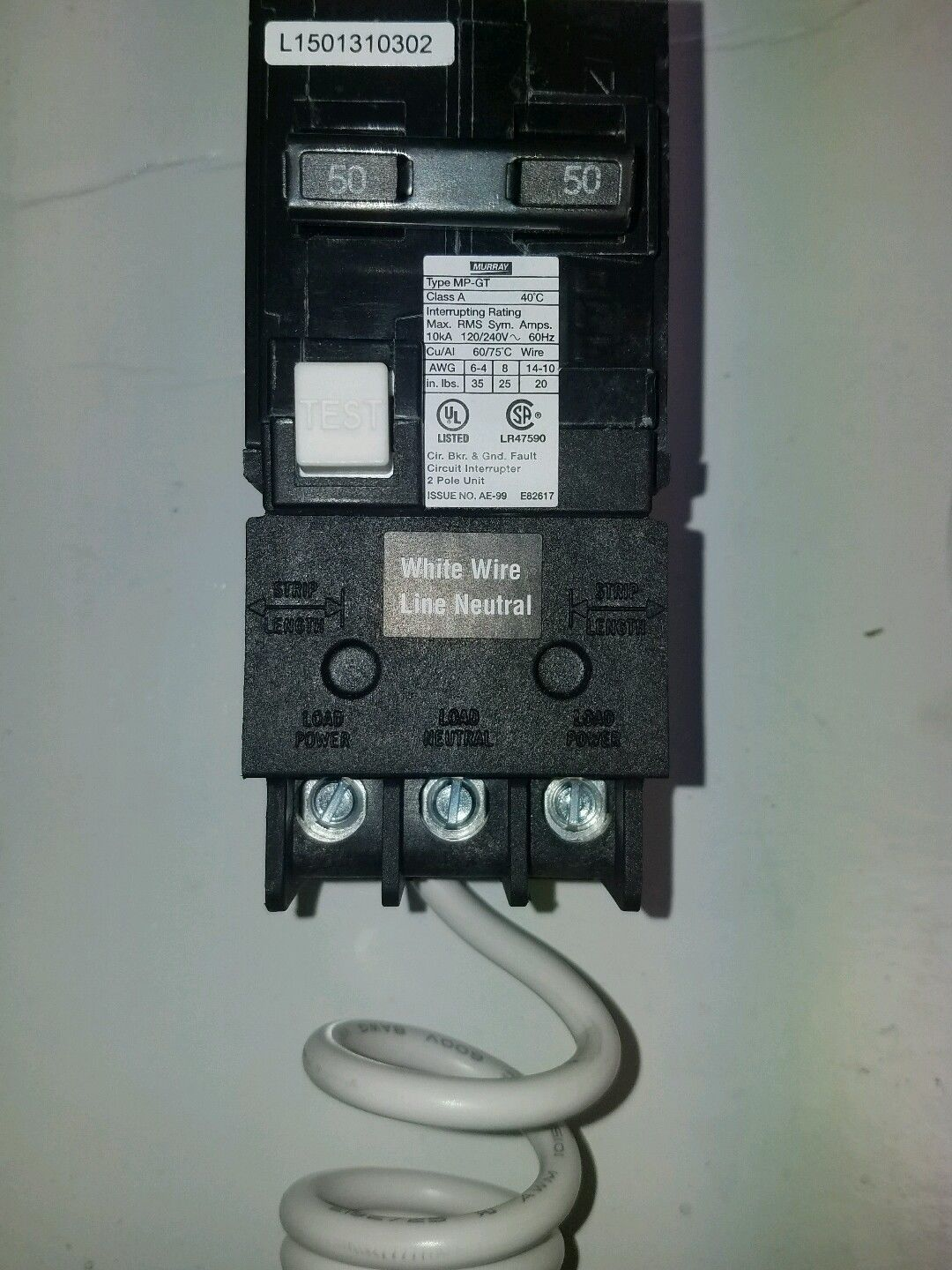 Gfci Circuit Breaker Perfect 220 Volt Square D Qo Qwikgard 15 Amp Singlepole Wonderful Murray Mp250gfp 50amp Doublepole Type Mpgt And
